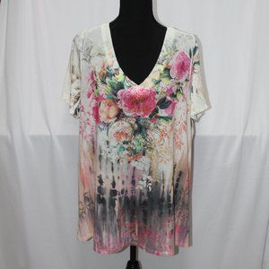 Only Nine by Avenue Floral Knit Top